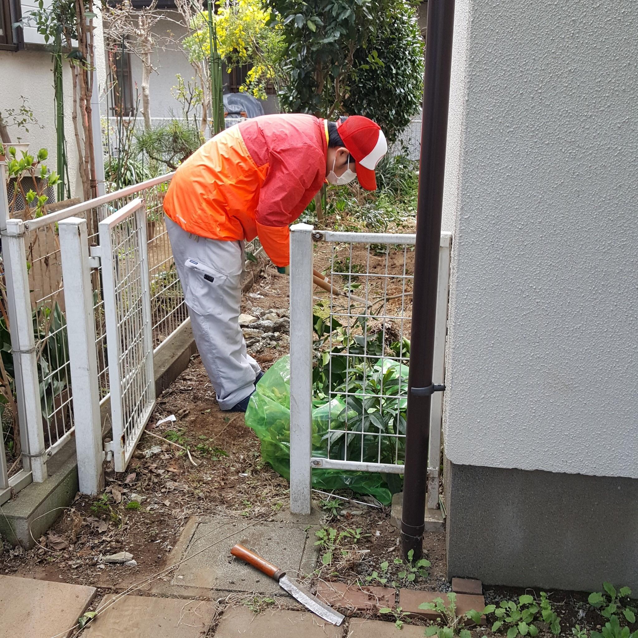 相模原市中央区 物置解体・撤去とお庭の手入れ・掃除