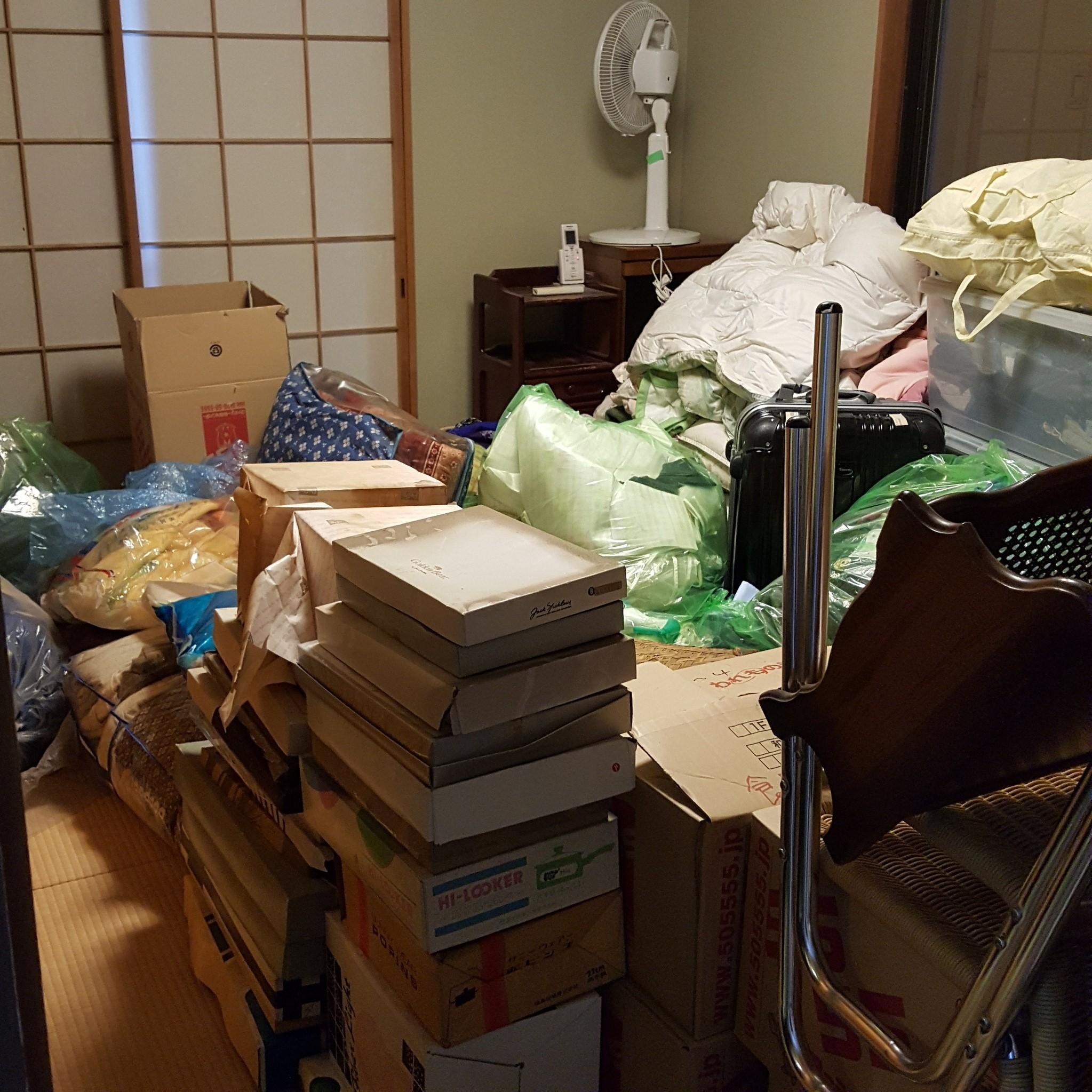 神奈川県横浜市 一戸建て屋根裏部屋の整理整頓と不要品回収
