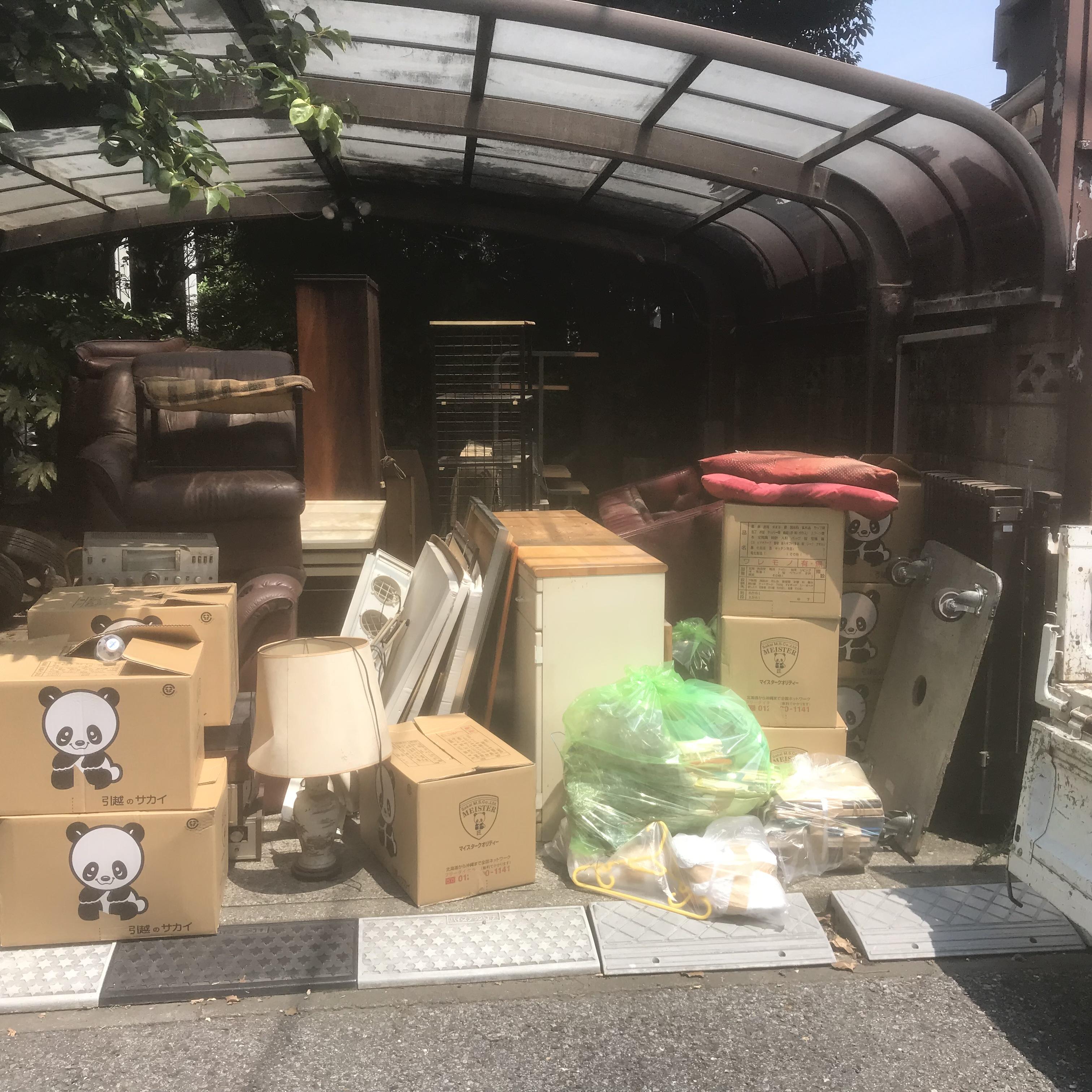横浜市港南区 一戸建ての家具、家電、不要品の片付けと回収