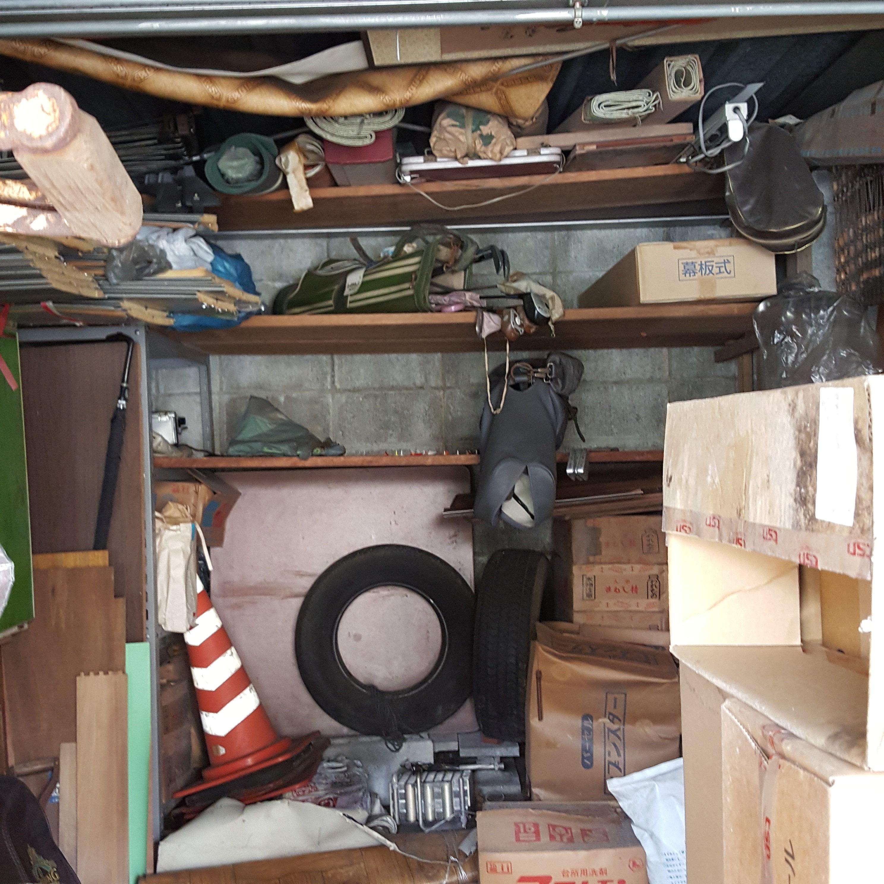 横浜市港北区  倉庫内片付・タイヤとその他全て回収